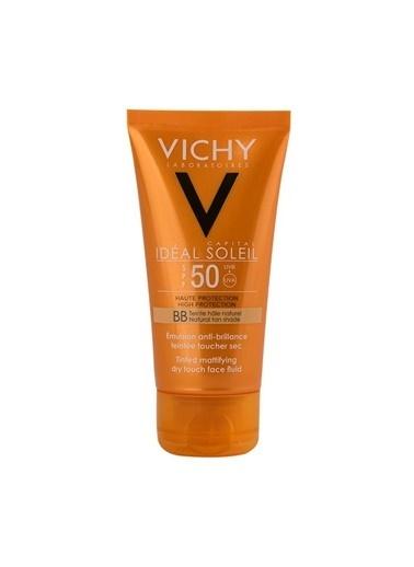 Vichy VICHY Ideal Soleil Dry Touch Tinted SPF50 50 ml - Renki Güneş Losyonu Renksiz